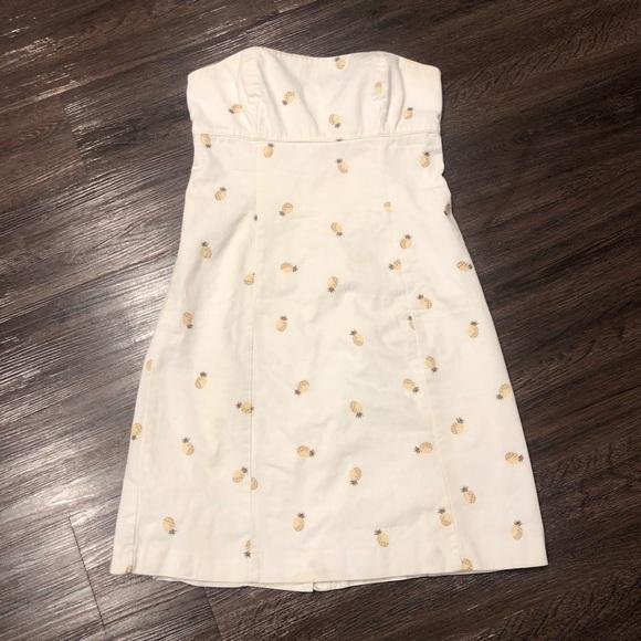 J. Crew Dresses & Skirts - 🧵 J Crew summer cotton pineapple dress S